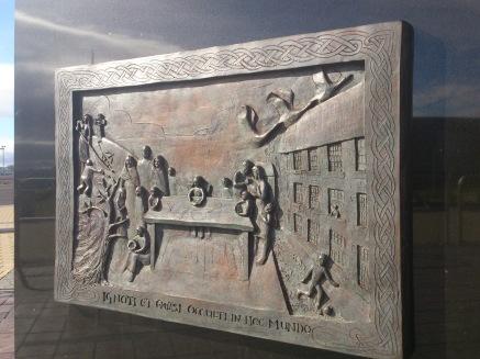 Walfrid statue Marist motto