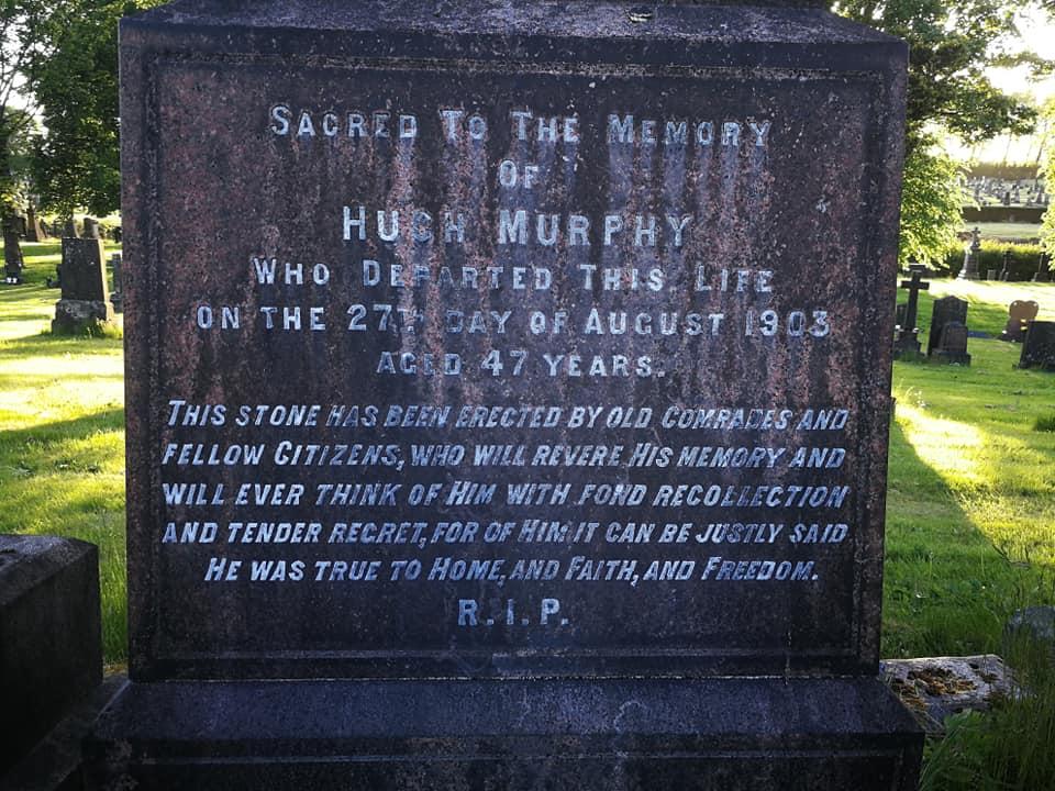 Hugh Murphy Memorial Dalbeth text