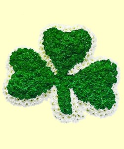 This image has an empty alt attribute; its file name is shamrock-flower-arrangement-1.jpg